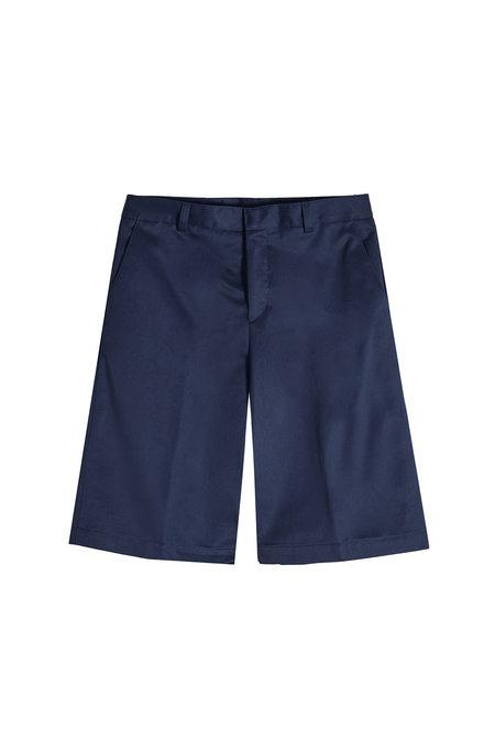 Kenzo Tailored Cotton Shorts In Blue