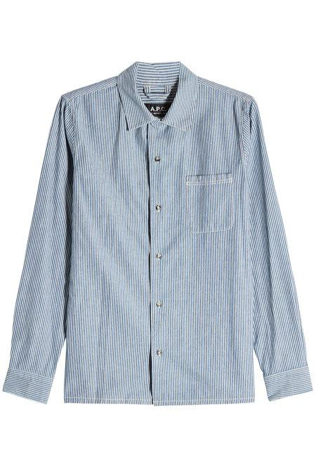 A.P.C. Luca Cotton Shirt In Stripes