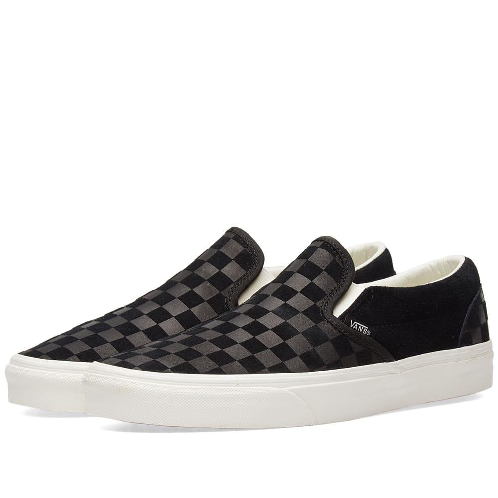 classic online here utterly stylish Vans Classic Slip On Checkerboard Embossed In Black   ModeSens