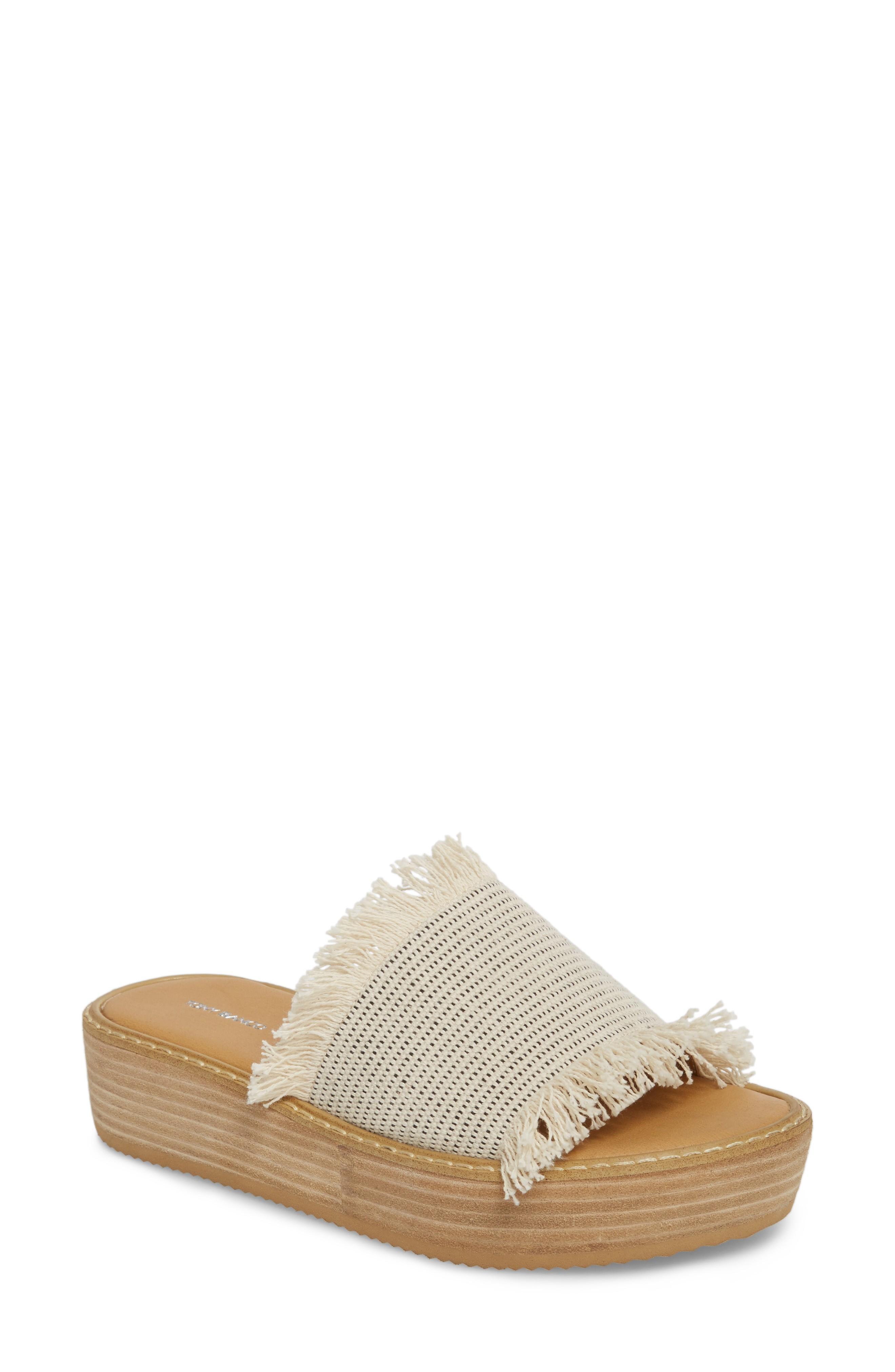 8e715ee961c Tony Bianco Ebony Platform Sandal In White  Black Osaka Fabric ...