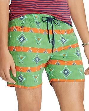 8242b91412 Polo Ralph Lauren 5-Inch Explorer Print Swim Trunks In Green Native ...