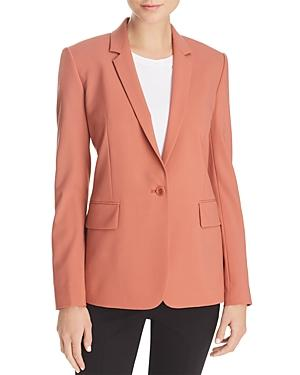 99603231a413 Theory Essential One-Button Stretch-Wool Jacket In Pink | ModeSens