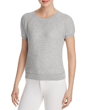 f3b8f2640a9ad Joie Christa Short-Sleeve Sweatshirt In Heather Grey | ModeSens