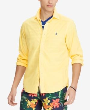 Polo Ralph Lauren Men's Classic Fit Garment Dyed Chino Shirt In Empire Yellow