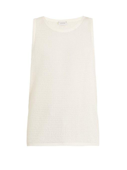 Lemaire Cotton-Mesh Tank-Top In White