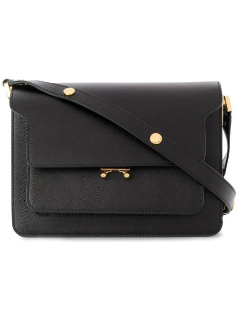 Marni Trunk Shoulder Bag In Black