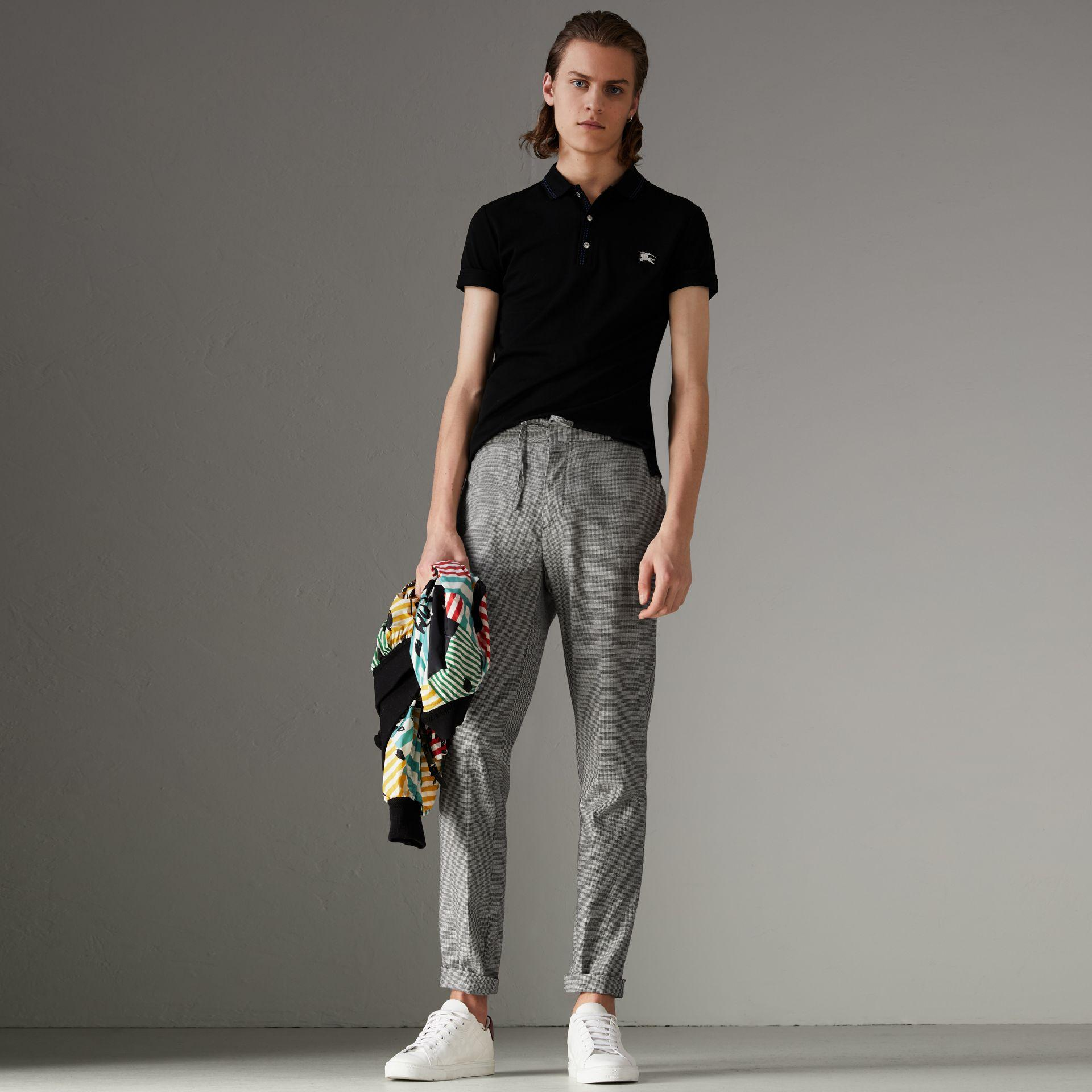 Burberry Cotton PiquÉ Polo Shirt In Black