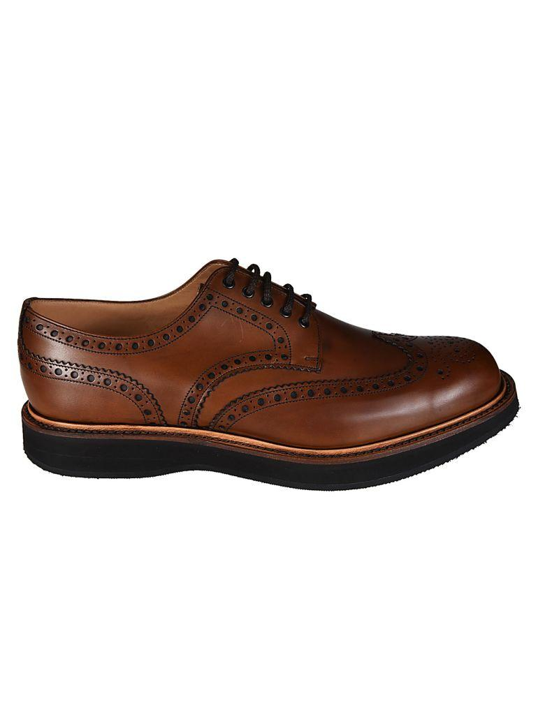 Church's Perforated Derby Shoes In Miele