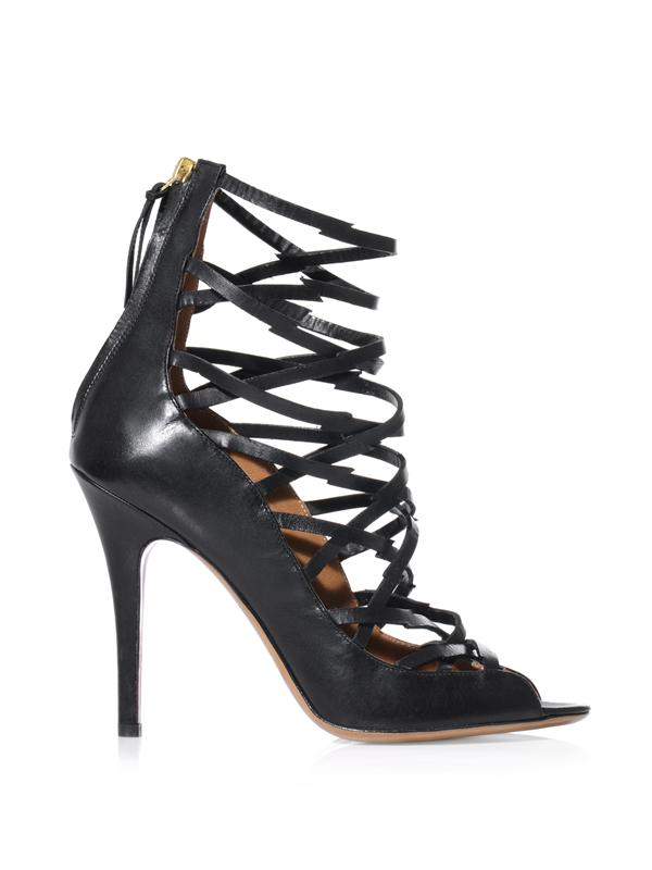 Isabel Marant Paw Strappy High-Heel Sandals In Black
