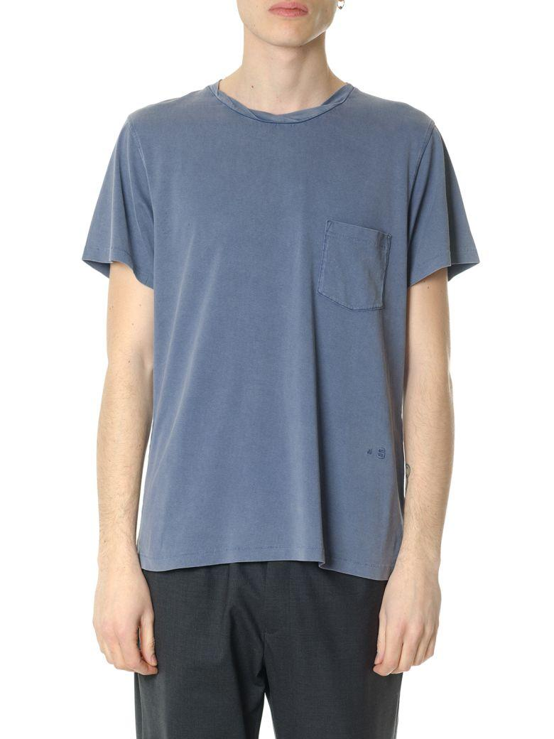 Acne Studios Washed Cotton T-Shirt In Blu