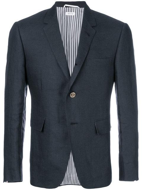 Thom Browne Fitted Blazer - Blue