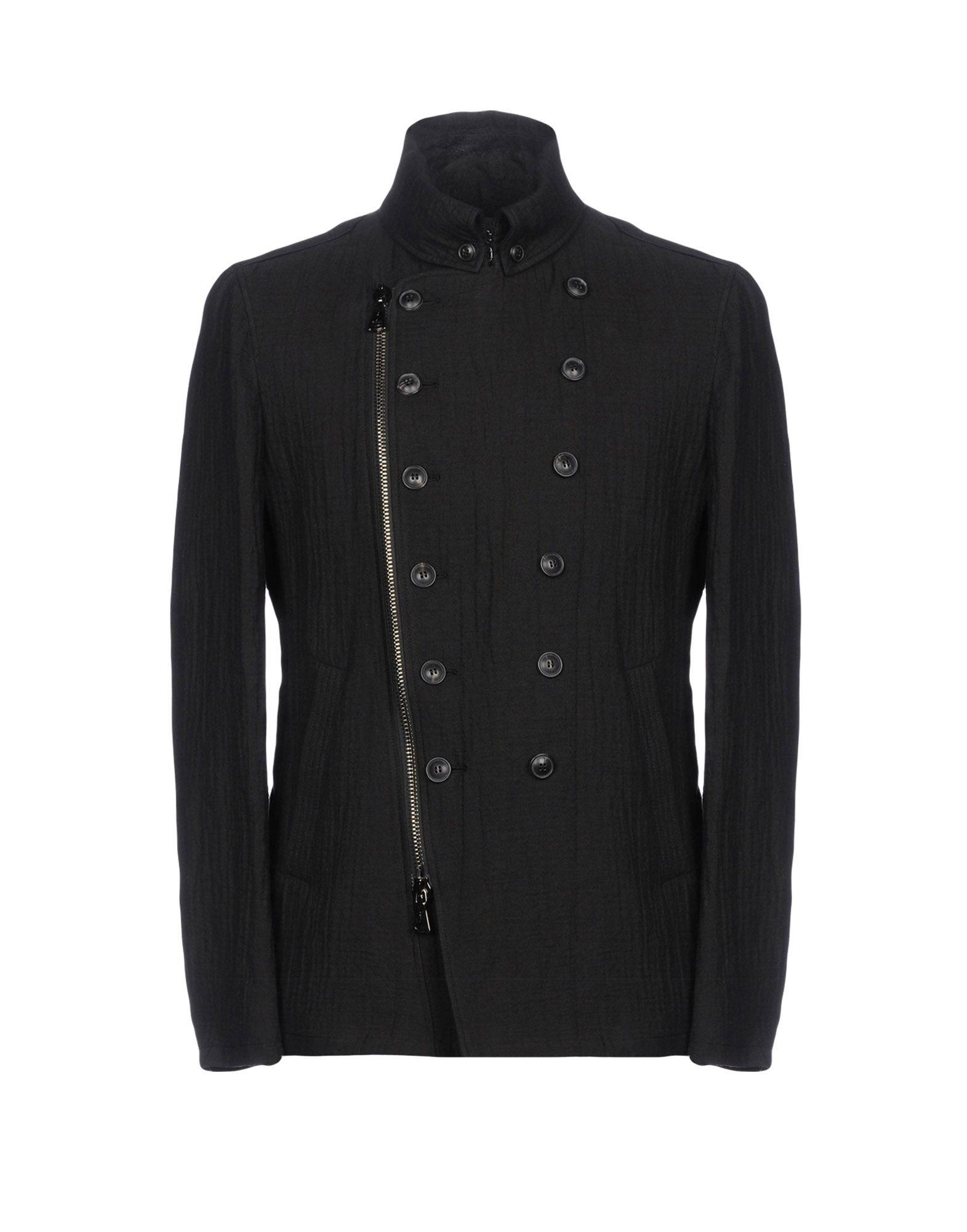 John Varvatos Double Breasted Pea Coat In Black