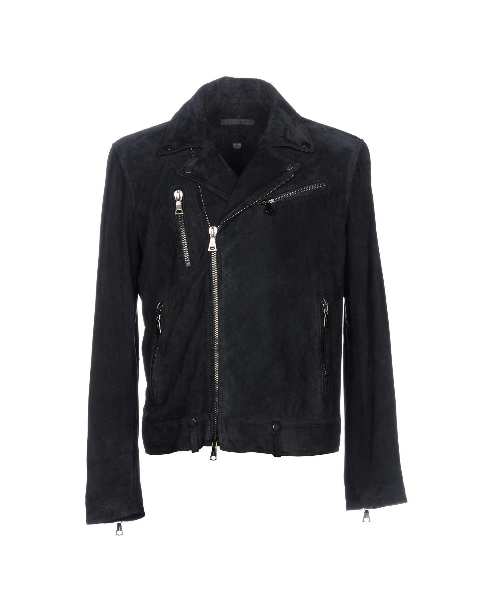 John Varvatos Biker Jacket In Dark Blue