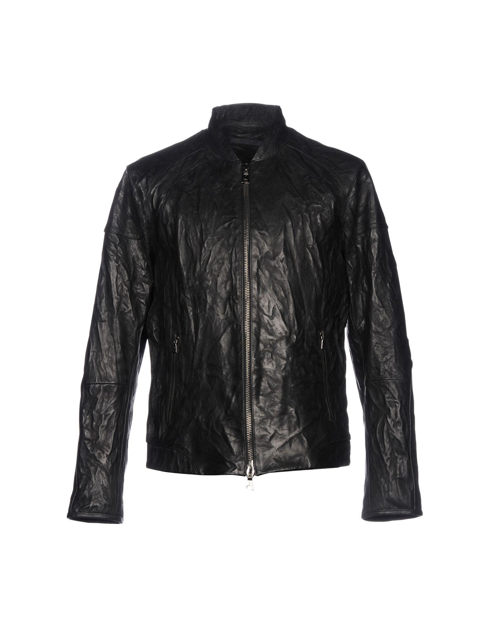 John Varvatos Biker Jacket In Black