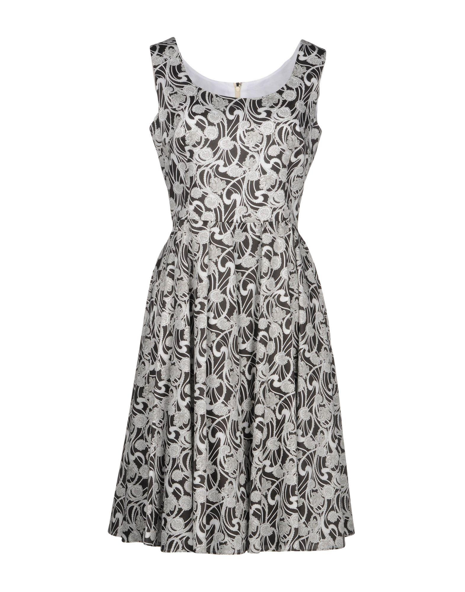 Dolce & Gabbana Knee-Length Dress In Steel Grey