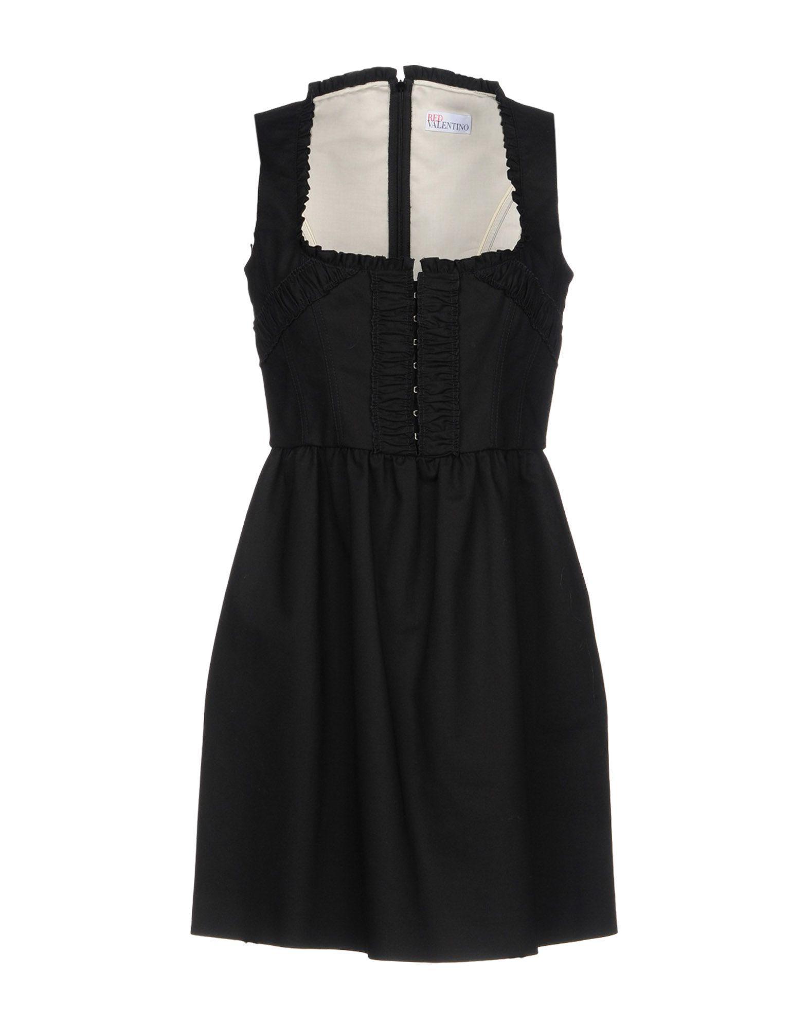 Red Valentino Short Dress In Black