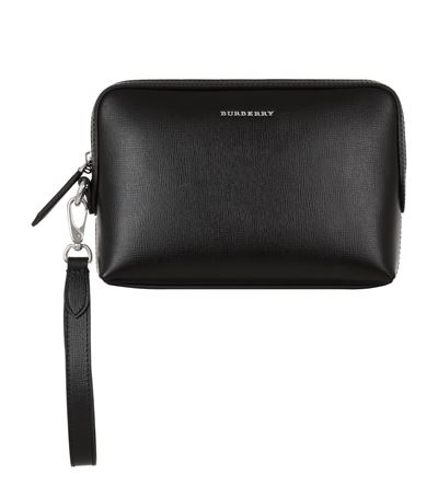 f130e75de6ae Burberry Saffiano Leather Clutch Bag In Black