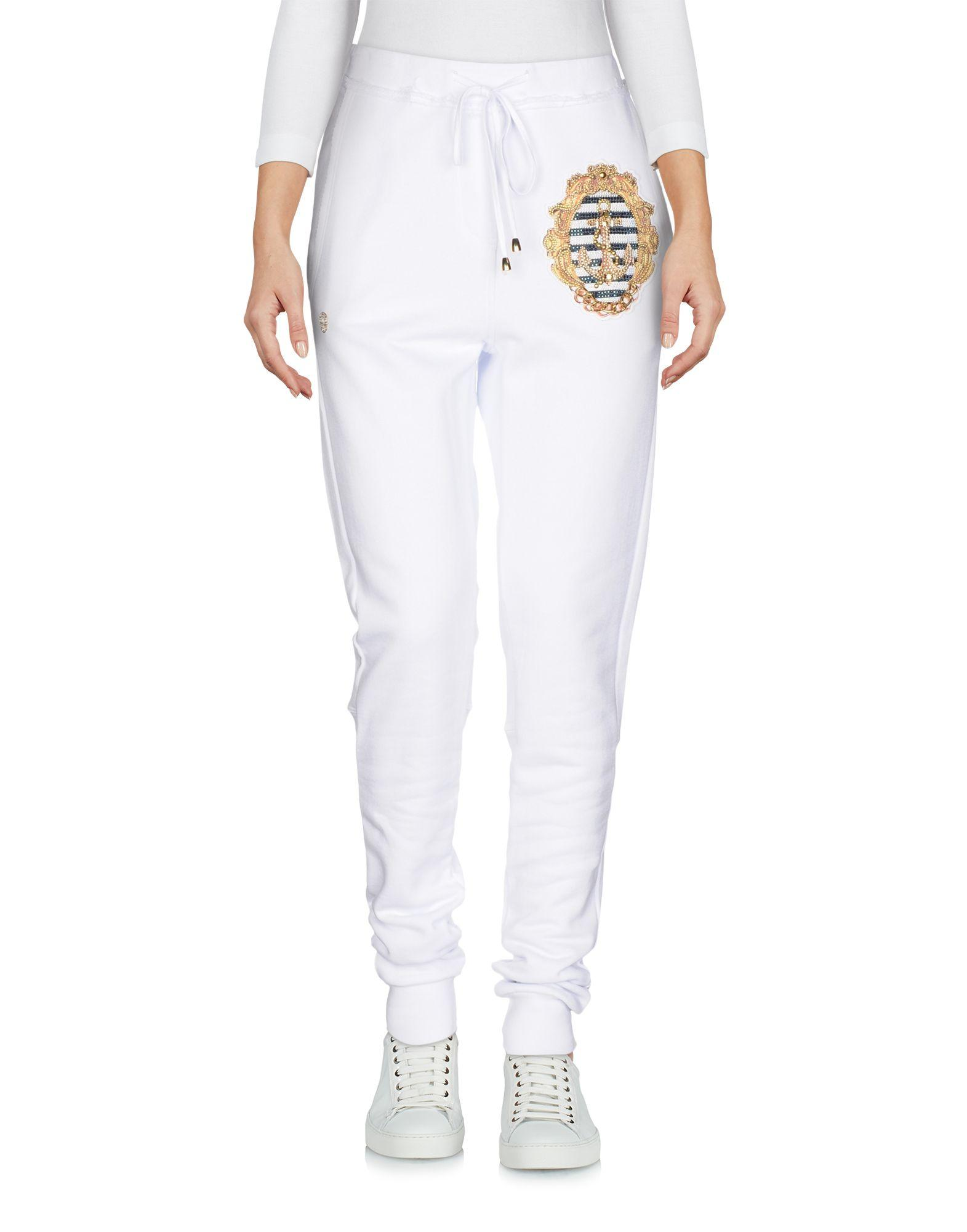 Philipp Plein Casual Pants In White