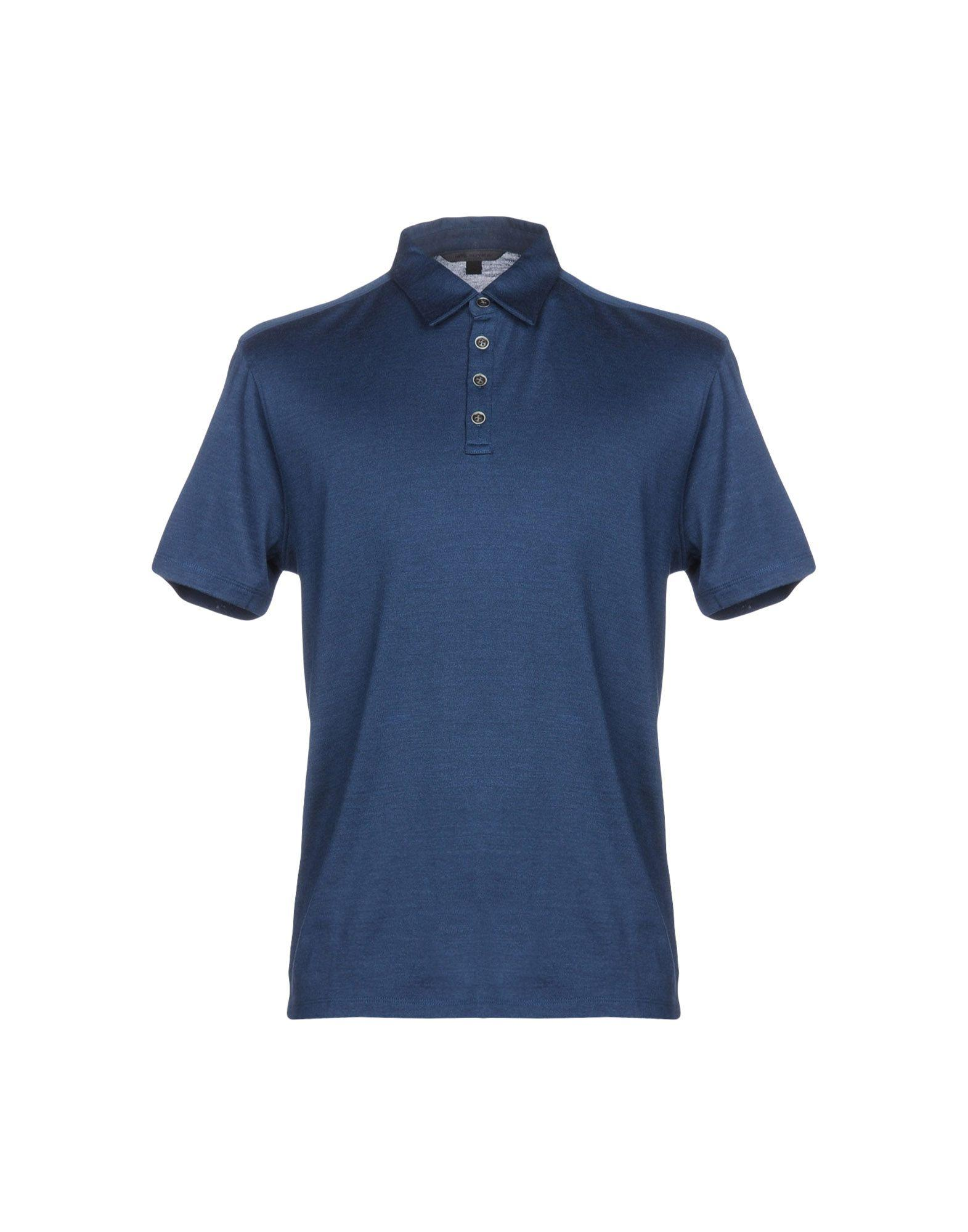 John Varvatos Polo Shirts In Slate Blue