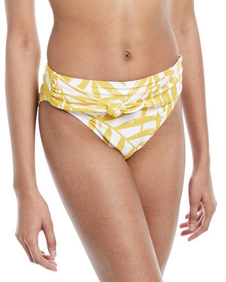 1b774990ea04c Carmen Marc Valvo Printed Front-Tie Bikini Bottoms Women's Swimsuit ...