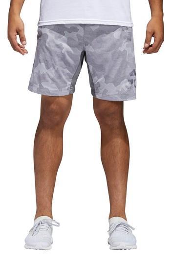 Adidas Originals Camo Hype Shorts In Grey Three / White