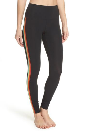 19716753f3052 Spiritual Gangster Rainbow Stripe Leggings In Black | ModeSens