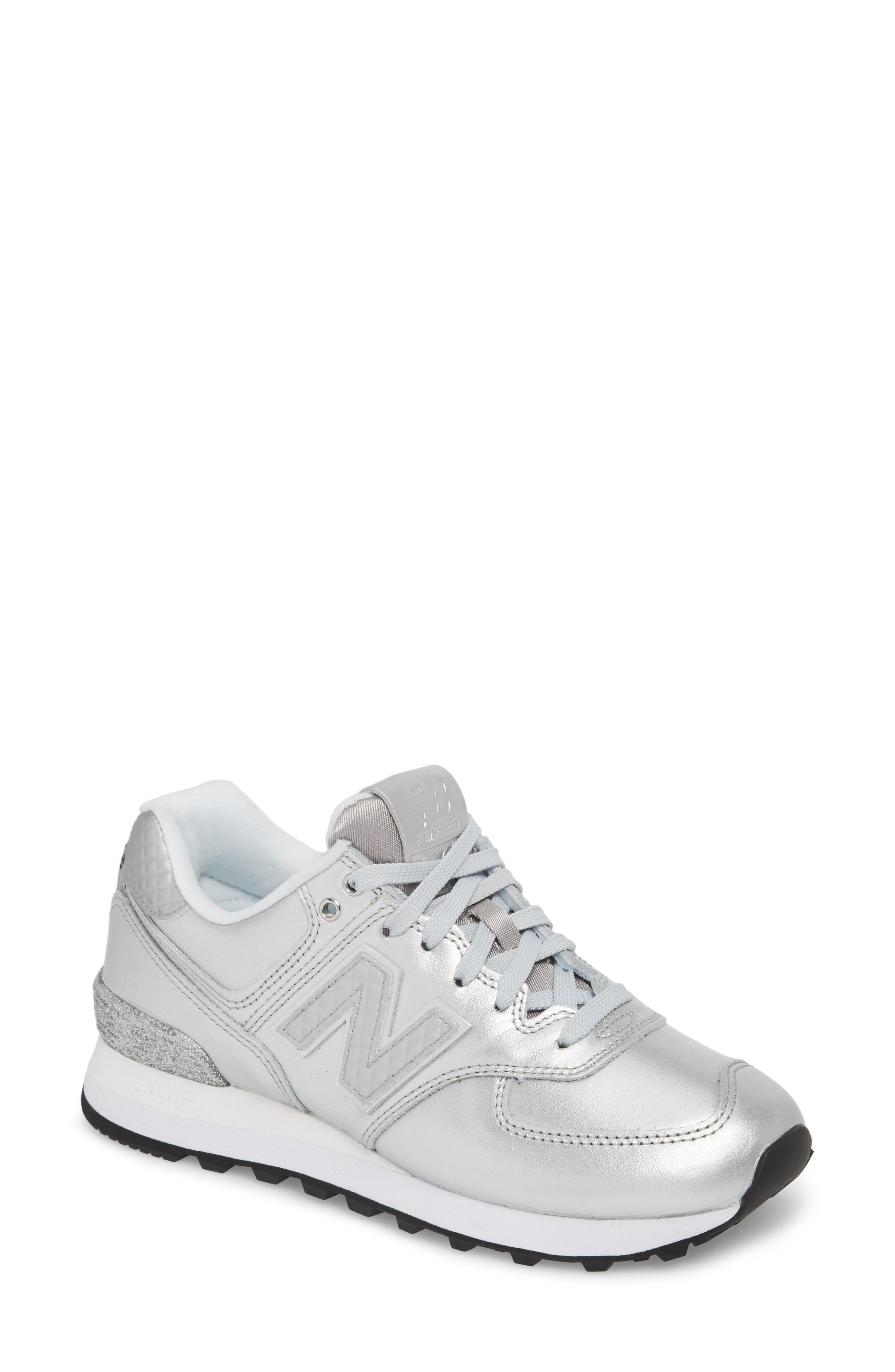 the best attitude 0256b 67edf 574 Glitter Punk Sneaker in Silver