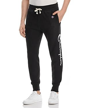 Champion Logo Jogger Sweatpants In Black
