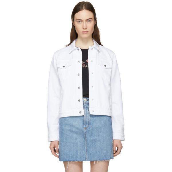 78cbd9cbcf114 Rag & Bone Nico Button-Front Long-Sleeve Denim Jacket In 100 White ...