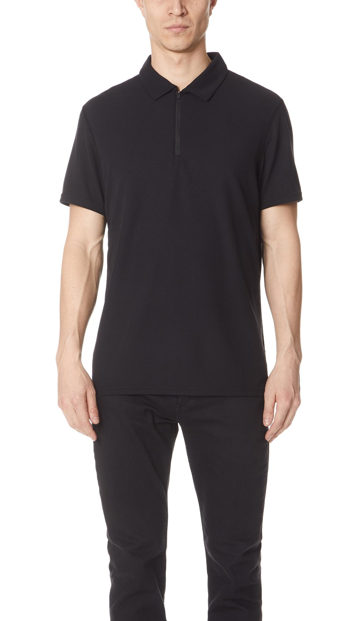 262b6081d Reigning Champ Coolmax Pique Polo Shirt In Black