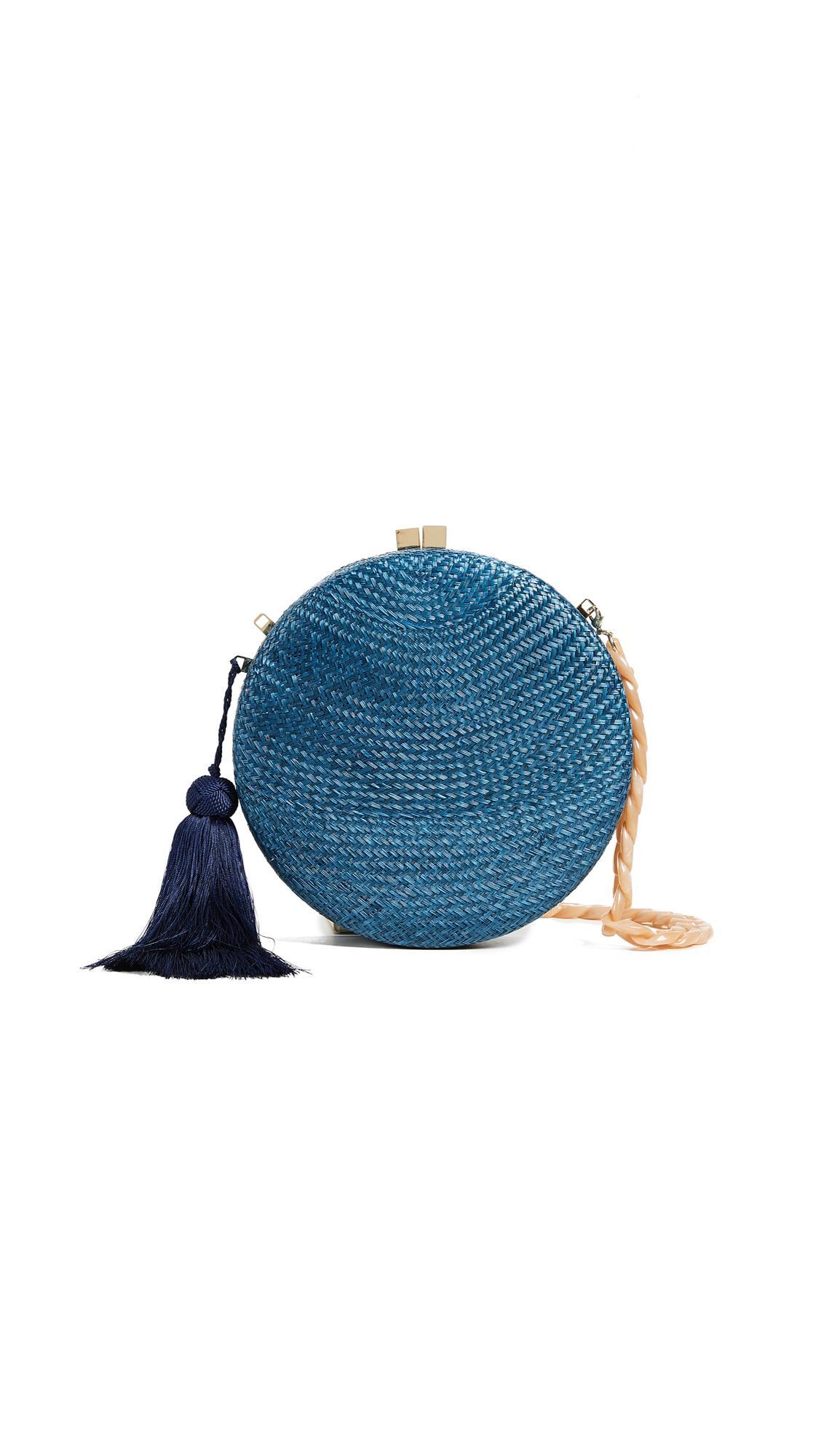7d70f2689 Serpui Marie Adele Round Clutch In Navy Blue | ModeSens