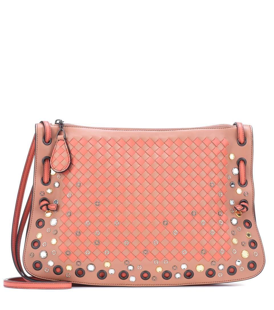 3fe87eb6b Bottega Veneta Intrecciato Leather Crossbody Bag In Pink | ModeSens