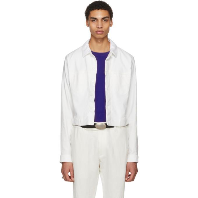 Haider Ackermann Ivory Denim Jacket In Ivory.dye