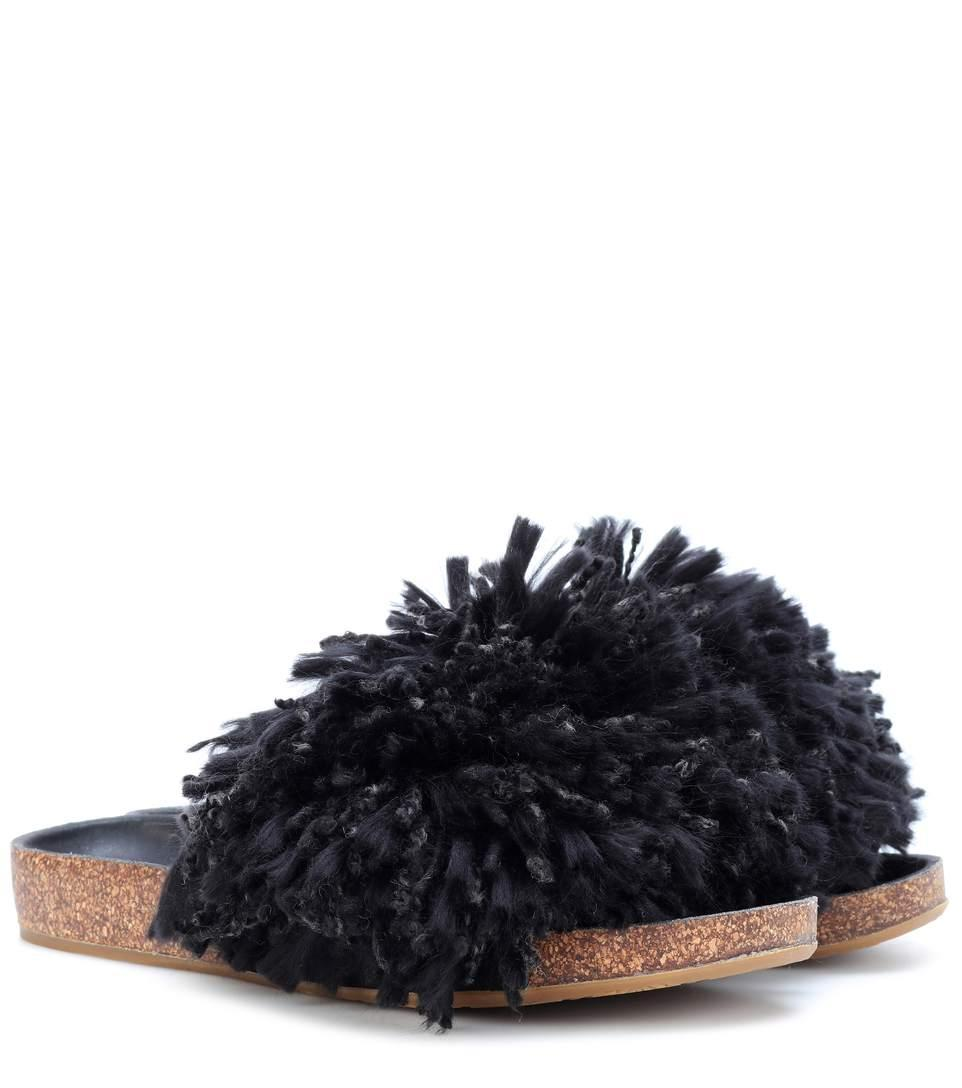 d203fc7a80e Cindi Fringe Slides in Black