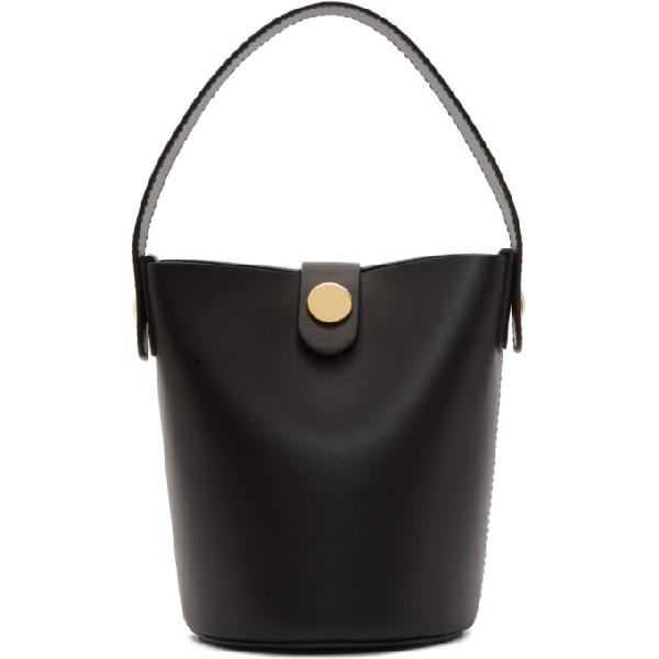 Sophie Hulme The Swing Saddle Leather Shoulder Bag In Black