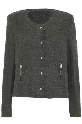 Iro Woman Agnette Cotton-Bouclé Jacket Anthracite