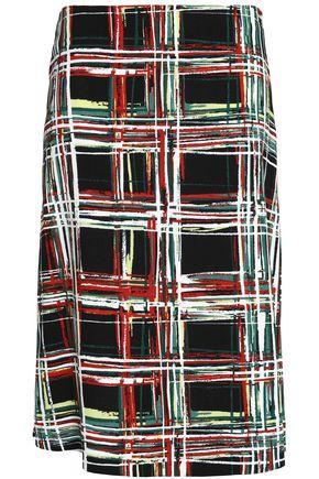 Marni Woman Checked Canvas Skirt Black