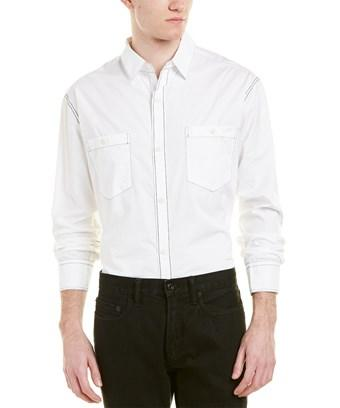 Rag & Bone Woven Shirt In White