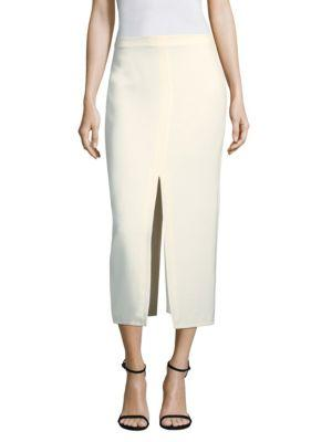 ef21c3492 Yigal AzrouËL Cream Suiting Slit Skirt In Ivory | ModeSens