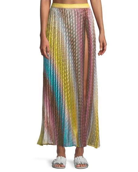 58dc57a71a1f4d Missoni Mare Metallic Crochet-Knit Maxi Skirt In Yellow