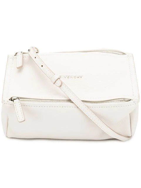 Givenchy 'Mini Pandora' Sugar Leather Shoulder Bag In 100 White
