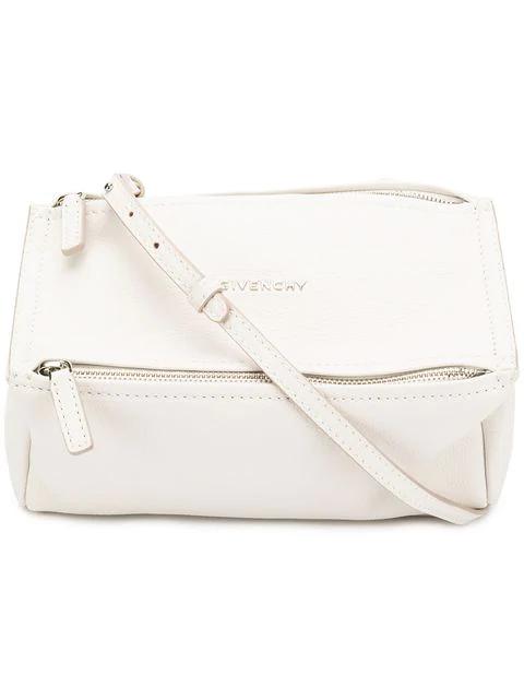 Givenchy 'Mini Pandora' Sugar Leather Shoulder Bag In 100 White