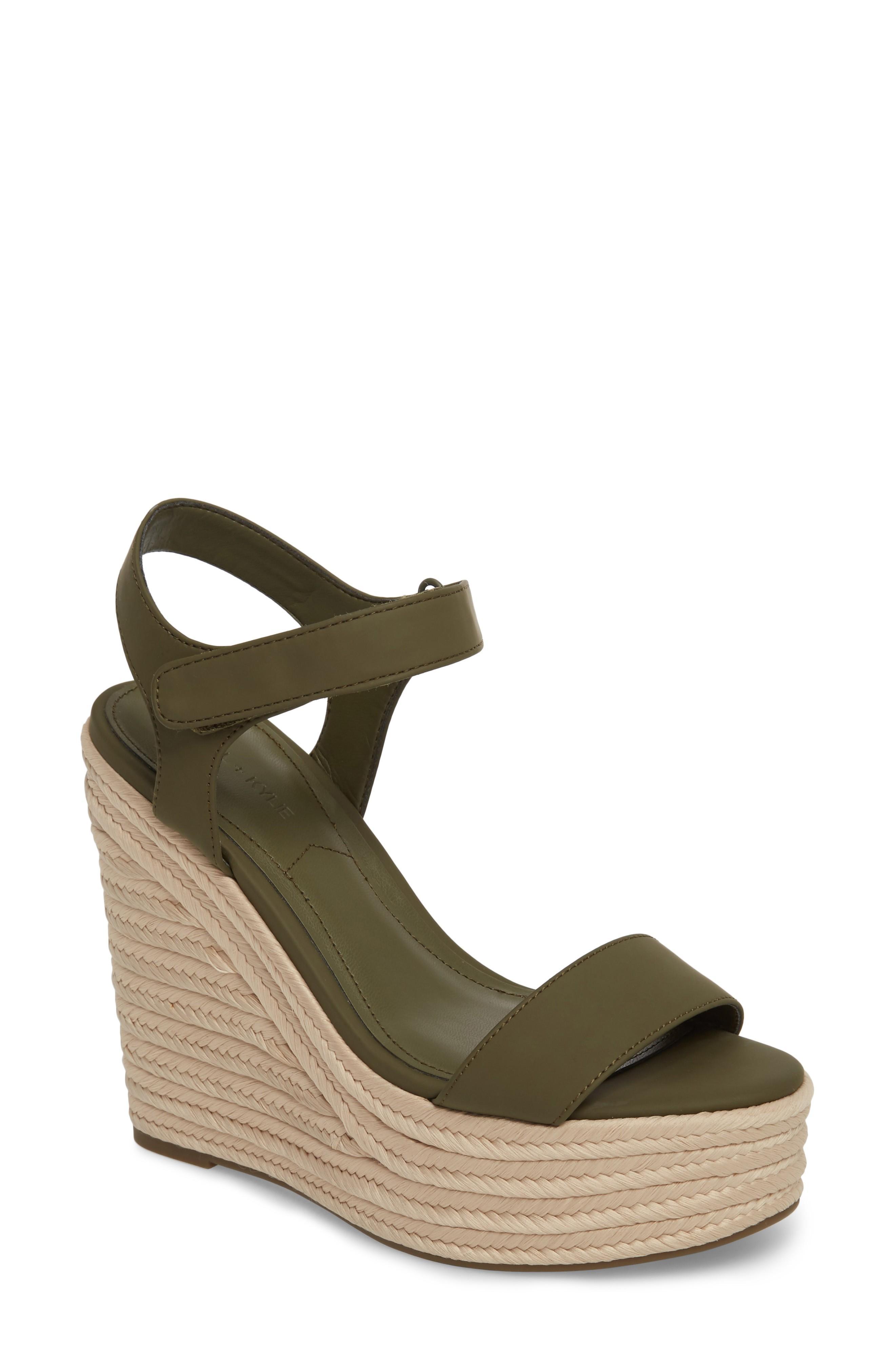 5c1e53b34b29 Kendall + Kylie Grand Sport Espadrille Wedge Sandal In Army Green ...