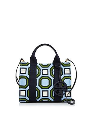 77894fd72255df Tory Burch Mini Print Canvas Tote - Blue In Light Chambray Octagon Square