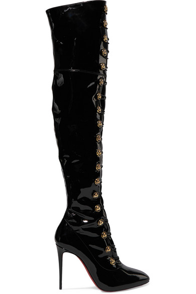 louboutin over the knee boots
