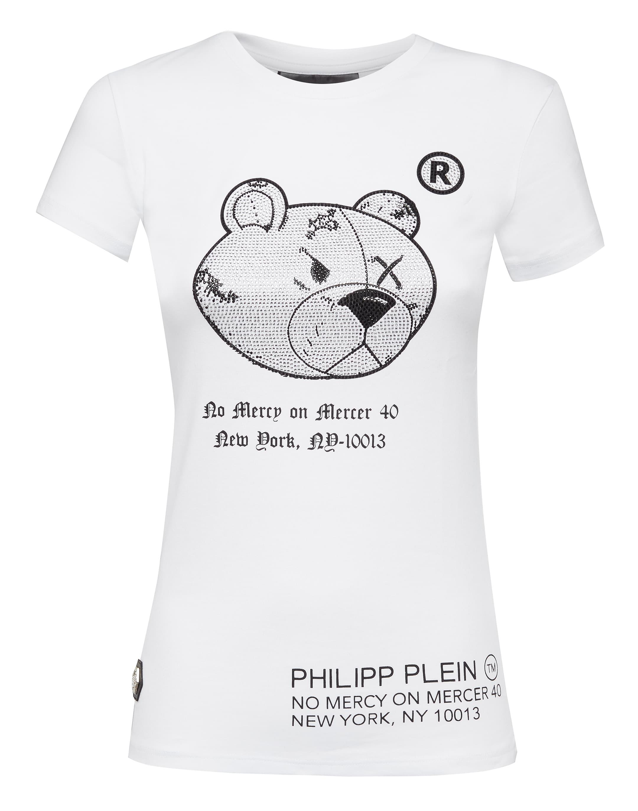 a24fcb7c6d0 Philipp Plein T-Shirt Round Neck Ss Teddy Bear In White | ModeSens