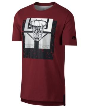 Nike Men's Basketball Graphic T-Shirt In Red