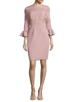 Js Collections Crepe Cocktail Dress In Blush