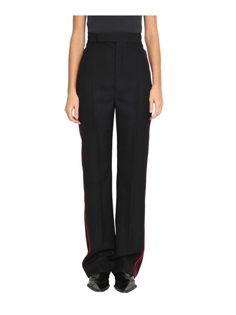 Haider Ackermann Contrasting Piping Wool Pants In Nero