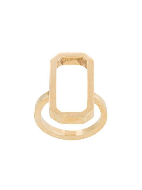 Julia Davidian Regular Octagon Ring In Metallic